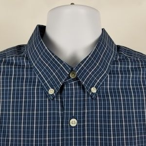 Eddie Bauer Wrinkle Free Relaxed Blue Check TXL